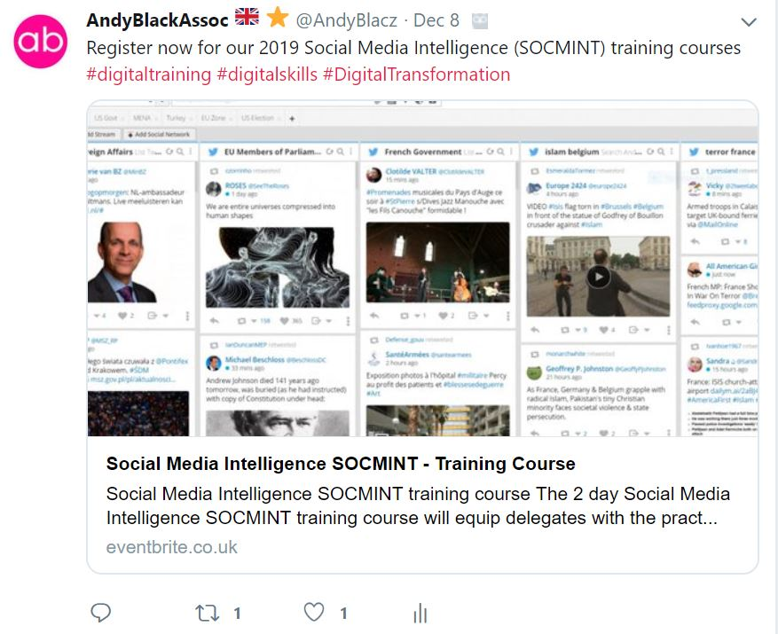 social media intelligence SOCMINT